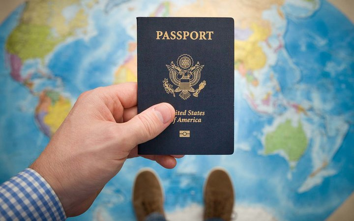 USA passport world travel