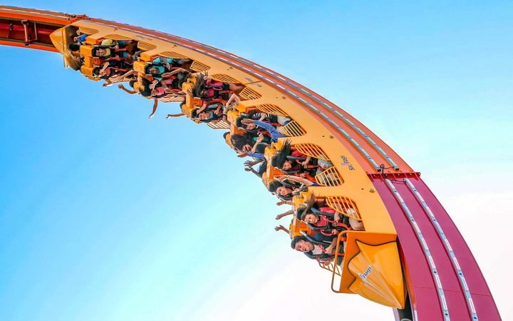 Rendering of World's Largest Loop ride coming to Six Flags Great America in 2018