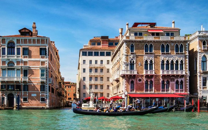Exterior of the Bauer Hotel in Venice, Italy