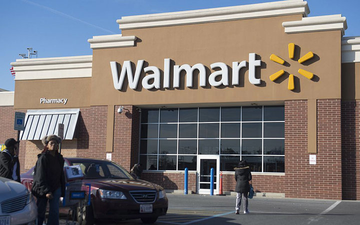 A Walmart store is seen in Landover, Maryland