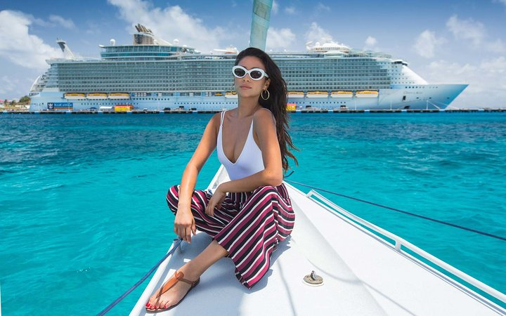 Shay Mitchell Adventurist Travel Oasis of the Seas Royal Caribbean