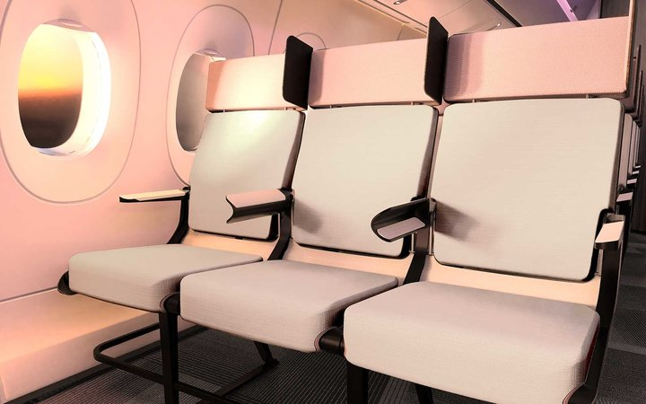 Ideas for space-saving arm rests on flights