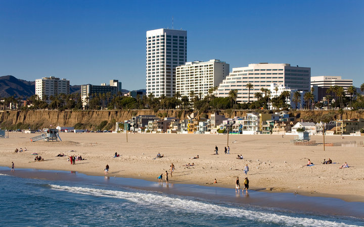 Santa Monica beach, Santa Monica, California, United States of America, North America