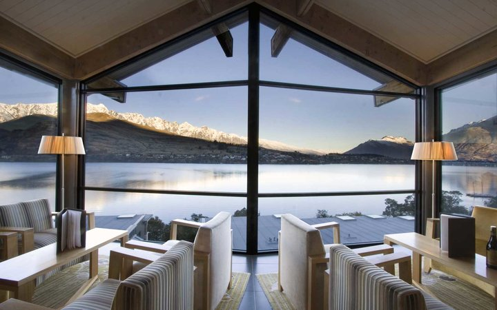 View from the Rees Hotel in Queensland, New Zealand