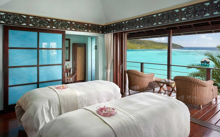 Spa at the Mandarin Oriental Pink Sands, in the Caribbean