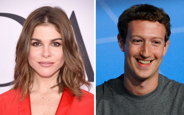 Emily Weiss and Mark Zuckerberg