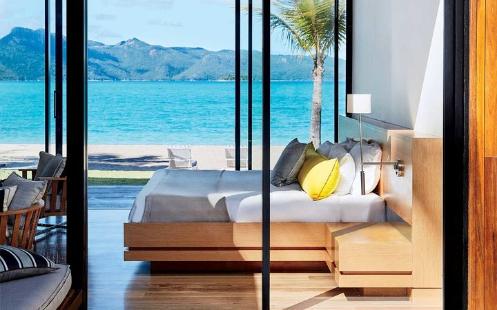 Bedroom at the One & Only Hayman Island, Australia