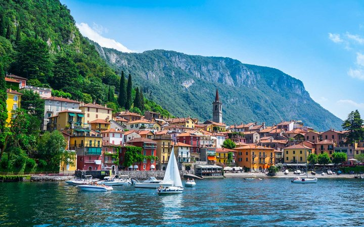 Varenna village on Lake Como in Lombardy, Italy