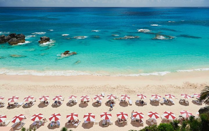 The beach at The Reefs, one of the World's Best Resorts in the Caribbean