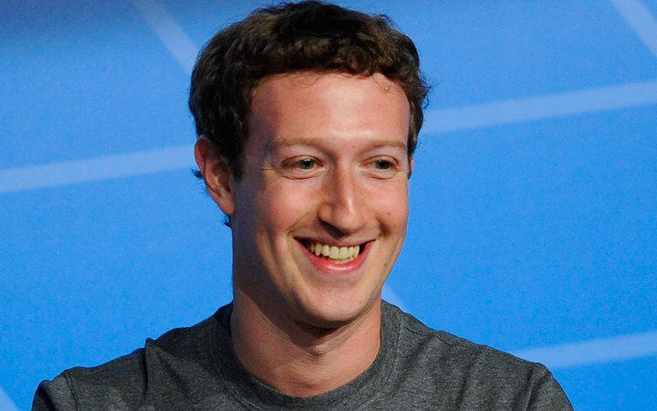 Co-Founder, Chairman and CEO of Facebook Mark Zuckerberg speaks during his keynote conference as part of the first day of the Mobile World Congress 2014 at the Fira Gran Via complex on February 24, 2014 in Barcelona, Spain.