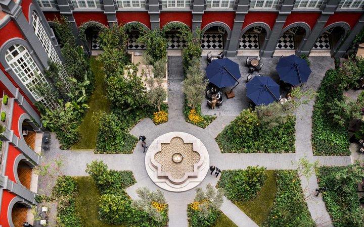 View of the gardens at Four Seasons Mexico DF