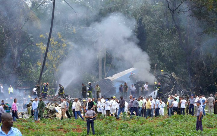 Cubana de Aviacion aircraft crashed after taking off from Havana's Jose Marti airport on May 18, 2018.