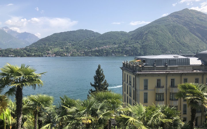 Overlooking Lake Como from the gardens of Grand Hotel Tremezzo