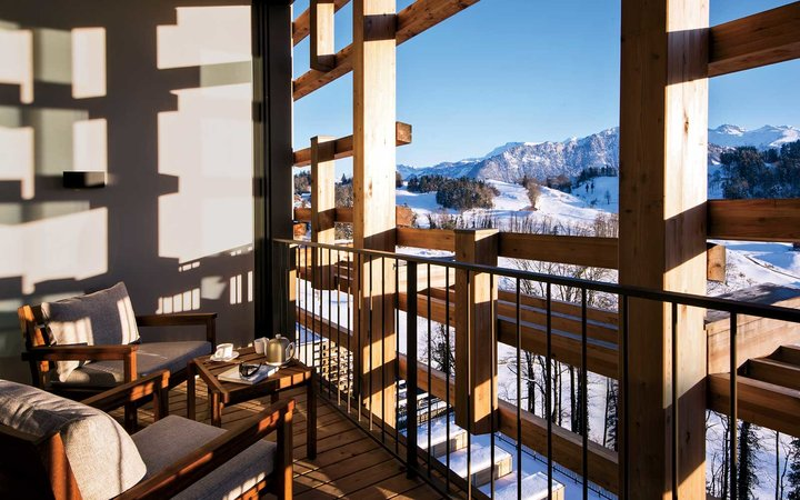 The Waldhotel, in the Swiss Alps