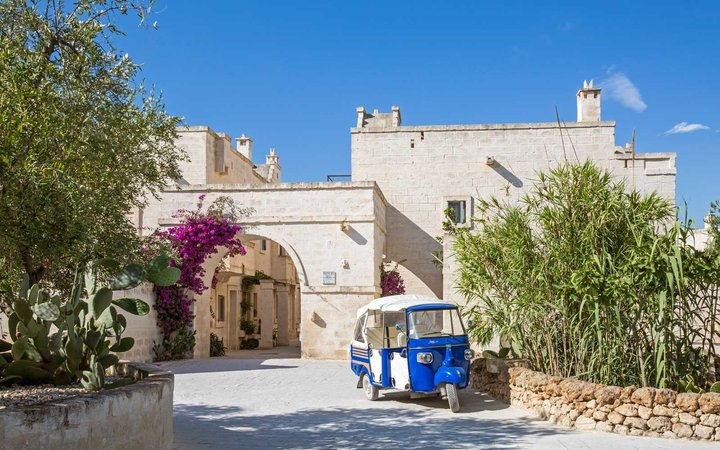 Exterior of the Borgo Egnazia resort in Italy