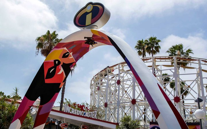 Incredicoaster, Disney California Adventure, Pixar Pier