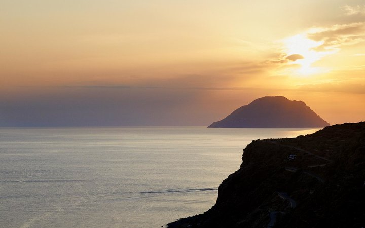 Alicudi and Filicudi, two if the Aeolian Islands in Italy