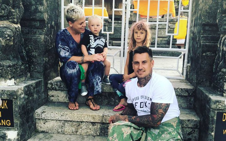 Pink and husband Carey Hart with son Jameson and daughter Willow
