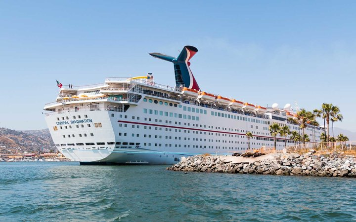 Cruise Ship Imagination Docked in the Port of Ensenada