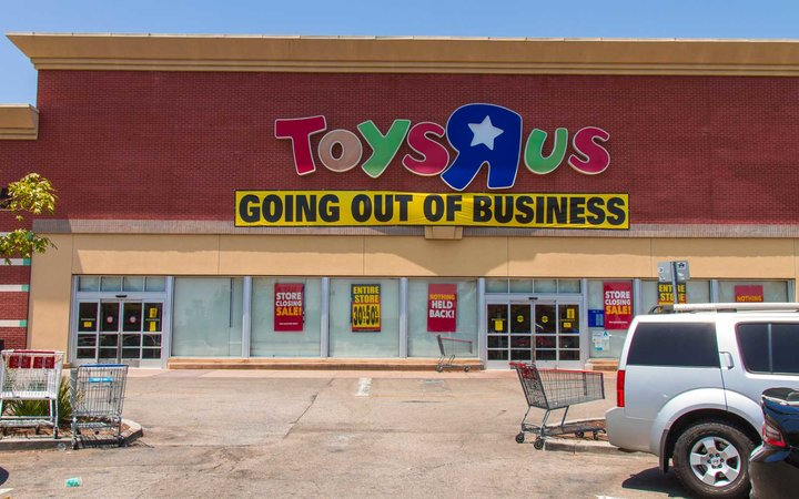 Toys R Us after filling for bankruptcy