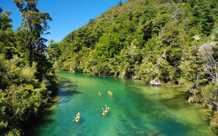 Kayaking on the Falls River, Abel Tasman NP, New Zealand