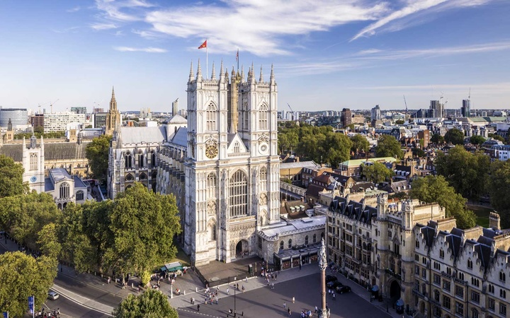 Westminster Abbey in central London.