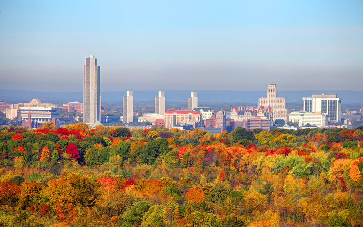 Albany, New York, comes alive with colors in the fall.