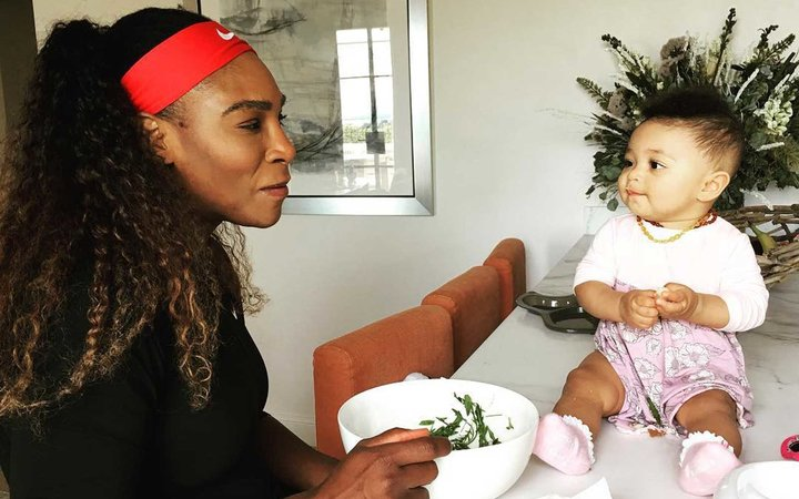 Serena Williams and baby Olympia