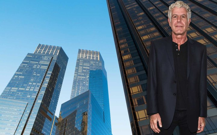 Time Warner Center in New York City, Manhattan, former residence of the late Anthony Bourdain is now for rent.