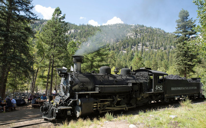You'll stop for a party in the San Juan National Forest as part of the Durango Brew Train.