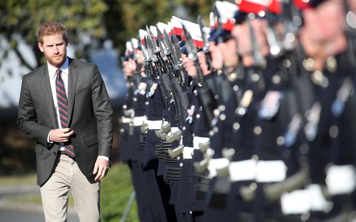 Prince Harry Visits Marines