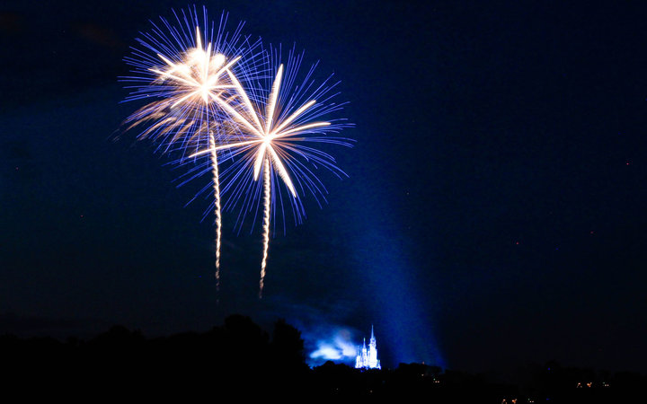 Fireworks above Disney World.