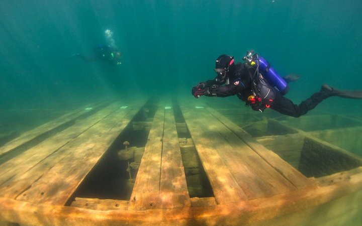 The new Emerald Bay Maritime Heritage Trail takes visitors on an underwater exploration.
