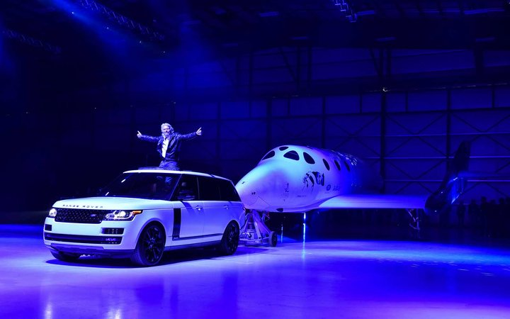 Virgin Galactic's Richard Branson rolls out his new SpaceShip Two VSS Unity