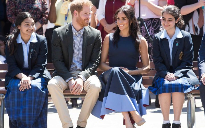 Meghan Markle Prince Harry Visit School