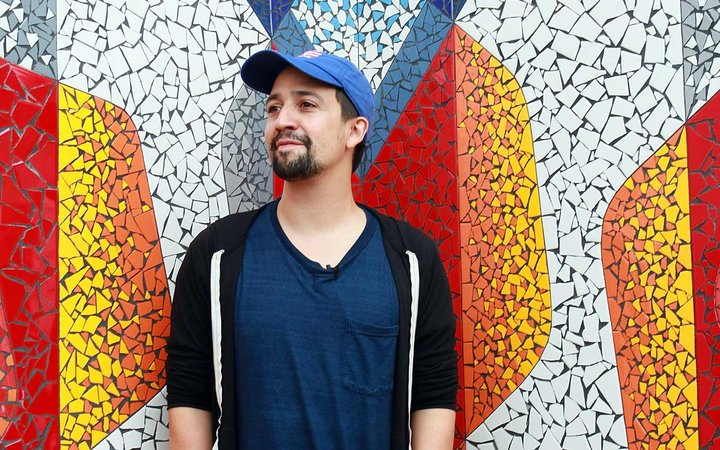 Lin-Manuel Miranda Visits Vega Alta, Puerto Rico To Discuss Hurricane Relief Efforts