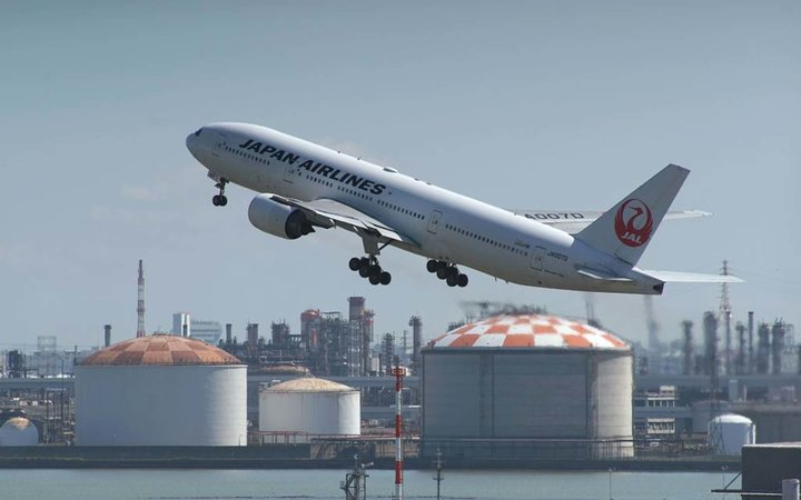 A Japan Airlines passenger jet takes off from Tokyo's Haneda airport in Tokyo