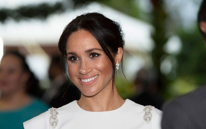 Meghan, Duchess of Sussex attends a state dinner at the Royal Residence