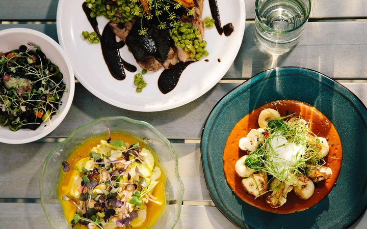 Dishes at Mi Tocaya Antojeria restaurant, in Chicago