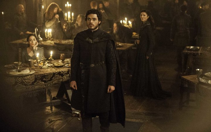 Scene from Game of Thrones Red Wedding
