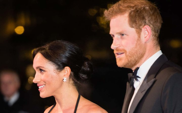 Meghan, Duchess of Sussex and Prince Harry, Duke of Sussex arrive at The Royal Variety Performance
