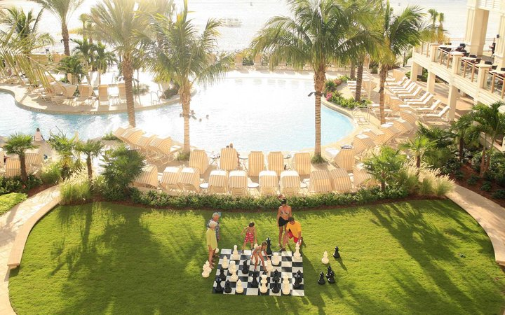Giant chess at the Sandpearl Resort