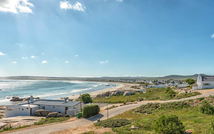 View of Paternoster on the Atlantic Ocean Coast in South Africa