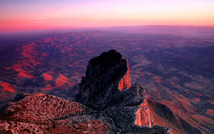 Guadalupe Mountains National Park is home to the four highest peaks in Texas.