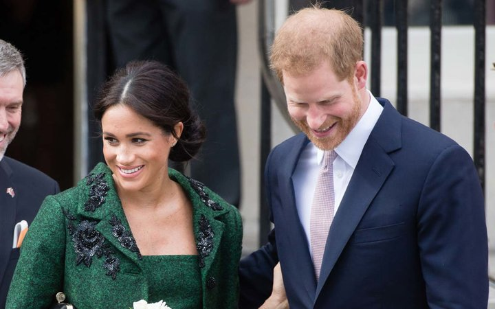 Prince Harry, Duke of Sussex and Meghan, Duchess of Sussex attend a Commonwealth Day Youth Event at Canada House