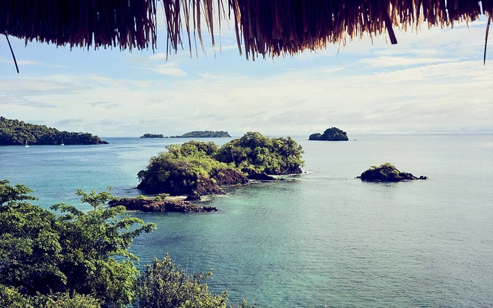 View of the Pacific from the terrace at Islas Secas, Panama