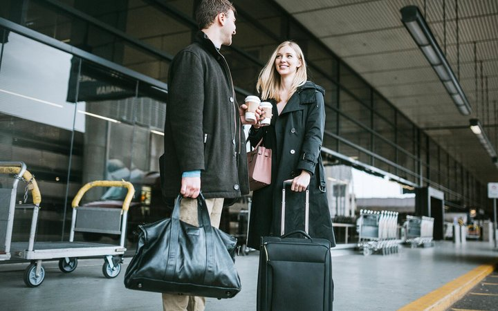 Couple with luggage
