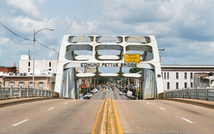 The Edmund Pettus Bridge in Selma, Alabama