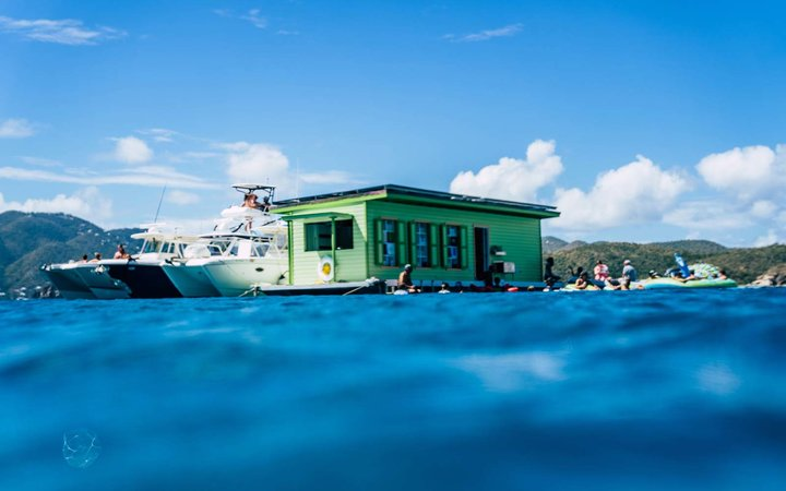 Lime Out taco-and-cocktail boat in St. John
