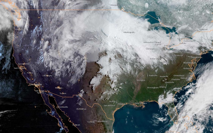 U.S. GOES West NOAA Imagery - April 2019
